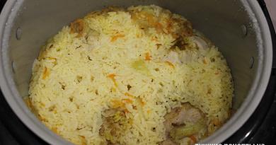 Рис с курицей в мультиварке Рецепт
