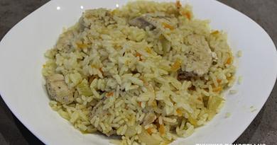 Рис с куриным филе на сковороде рецепт