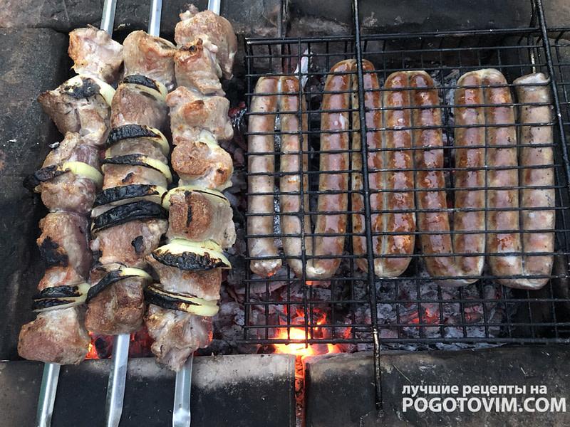 рецепт Шашлык из свинины c маринадом из майонеза и луком