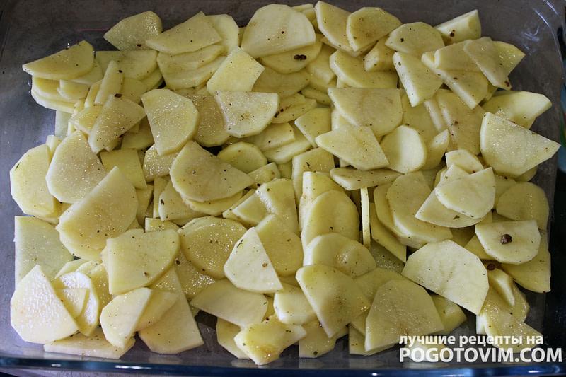 рецепт Запеченный картофель с индейкой в соевом соусе