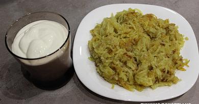 Картошка на терку бабка на сковороде Рецепт