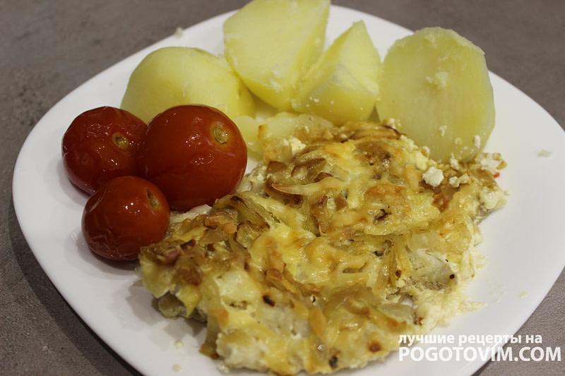 Минтай со сливками и сыром в духовке Рецепт