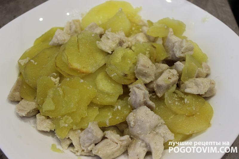 Картофель в рукаве с куриным филе в маринаде рецепт