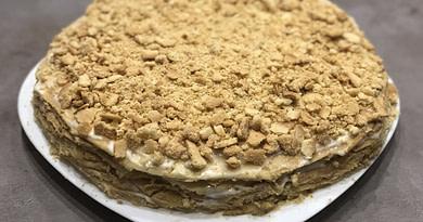 Торт медовый со сметанным кремом простой рецепт