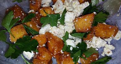 готовим простой салат из тыквы и сыра рецепт