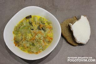 Тушеный кабачок и баклажан со сметаной рецепт