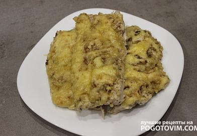 Куриные отбивные с грецким орехом и сыром рецепт