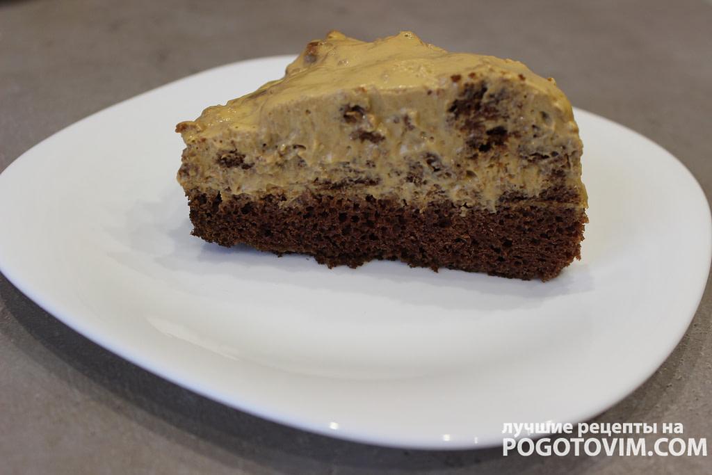 Торт Пинчер с кремом из сметаны и  варенной сгущенкой рецепт